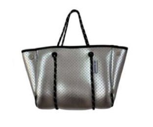 Mini Silver Perforated Neoprene Bag