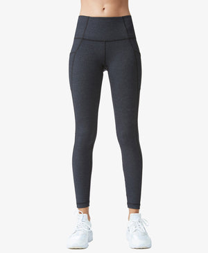 High Waist Pile Legging in Heather Charcoal