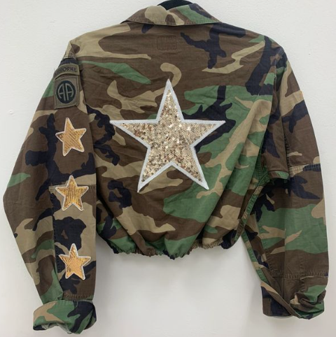 Camo Jacket with Gold Stars