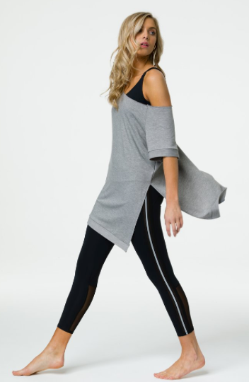 Split Sweatshirt Gray
