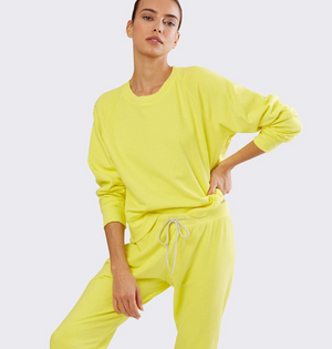 Splits59 Tilda sweatshirt in rugby yellow, neon yellow sweatshirt