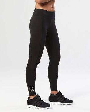 2XU Fitness Mid-Rise Compression Tights, compression leggings, black leggings, women's workout clothes, athleisure