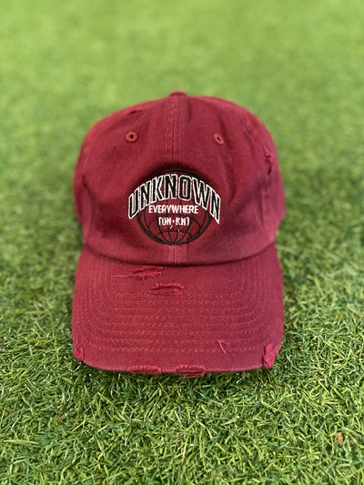 Unknown Everywhere Dad Hat UNkN Burgundy