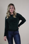 Soft Chenille Green Sweater