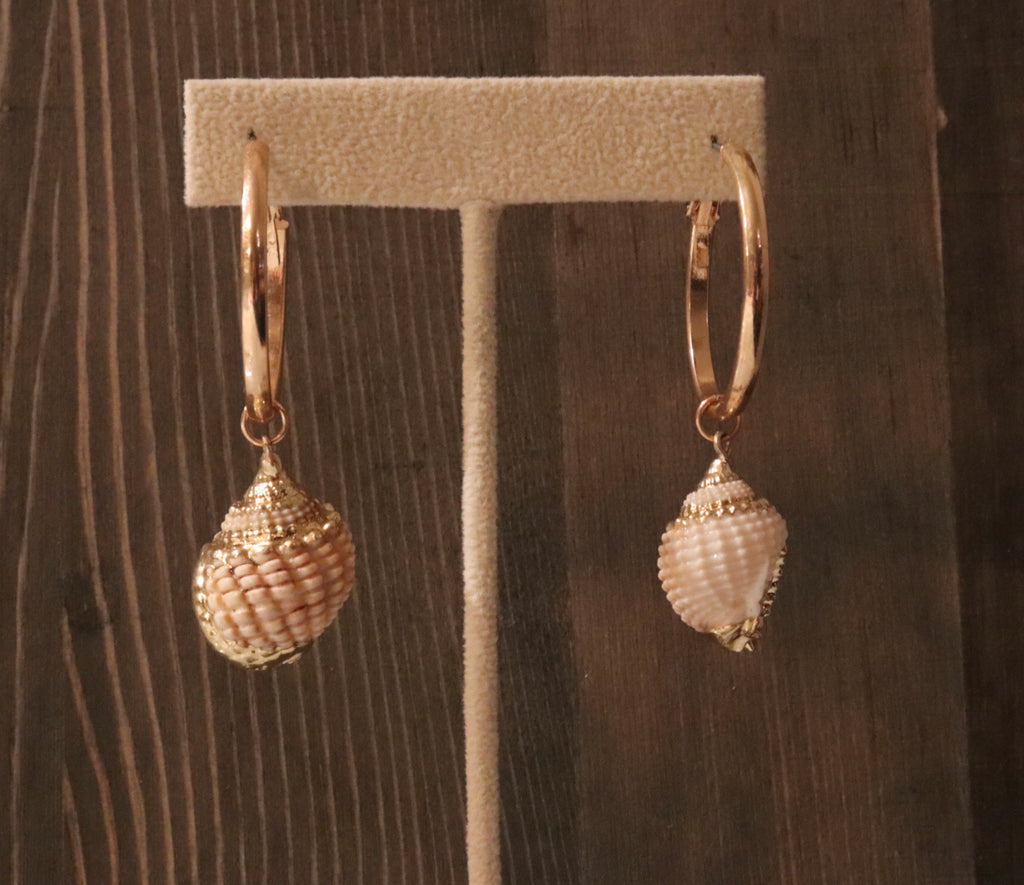 Tulum Shell Hoops