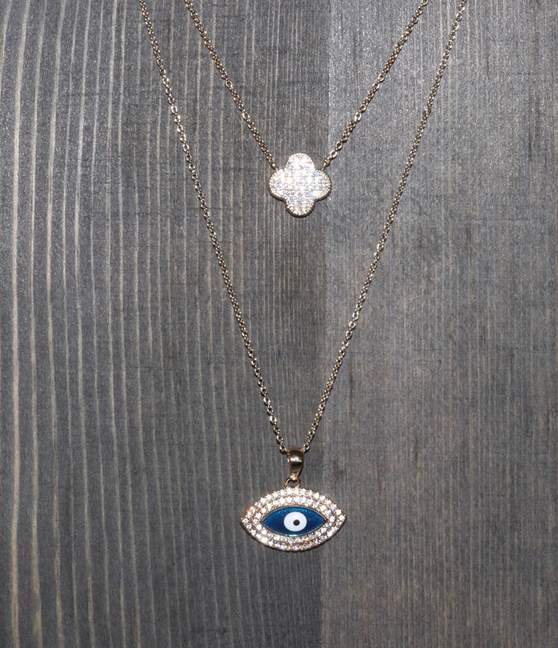 Myra Evil Eye Pendant Necklace