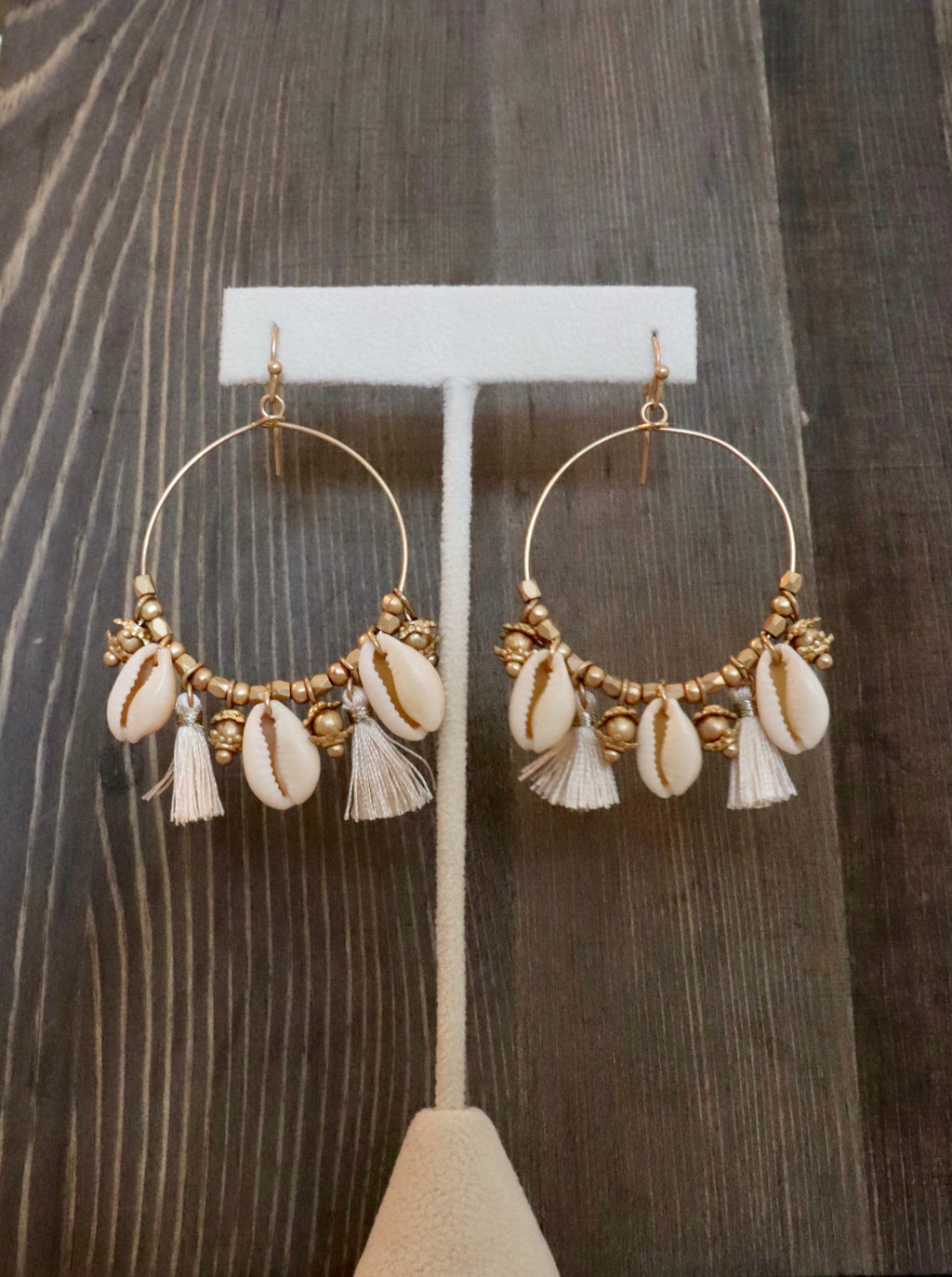 Tahiti Fringe Shell Earrings