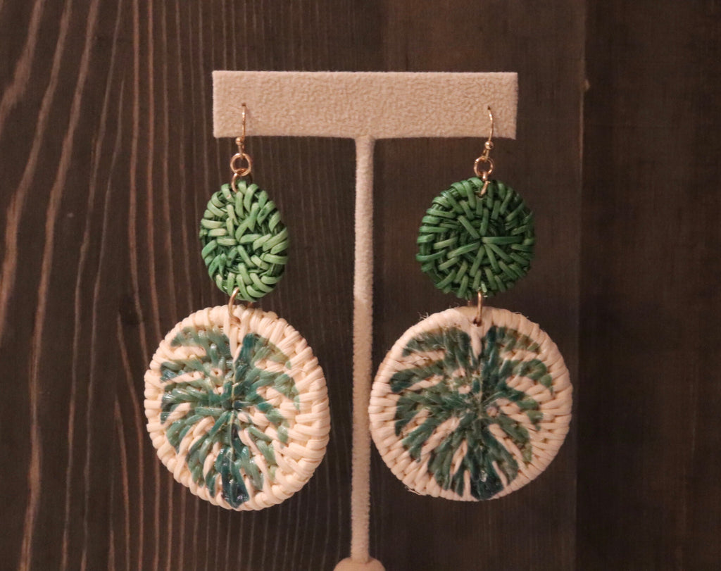 Cabo Palm Leaf Earrings