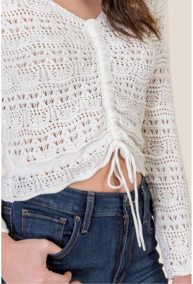 Bailey Crochet Knit Sweater