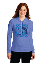 LADIES SPLASH LIGHTWEIGHT LONG-SLEEVE HOODED T-SHIRT (Choose Your Discipline)