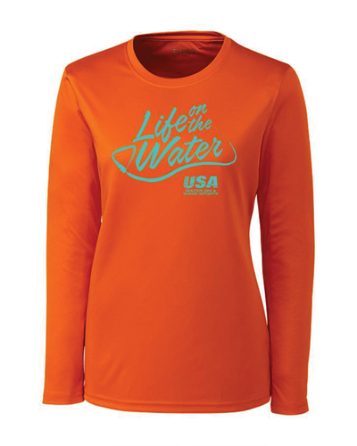 Ladies' Script Long Sleeve Tee