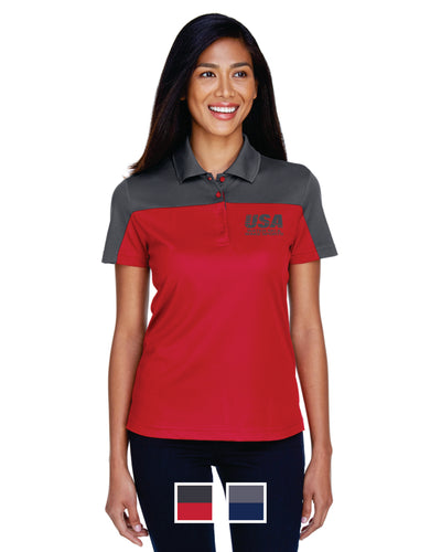 NSSA Ladies' Balance Colorblock Performance Piqué Polo