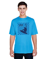 Men's Splash Performance Short Sleeve - Electric Blue (Choose Your Discipline)