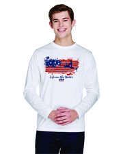 Mens Performance Flag Long Sleeve - White (Choose Your Discipline)