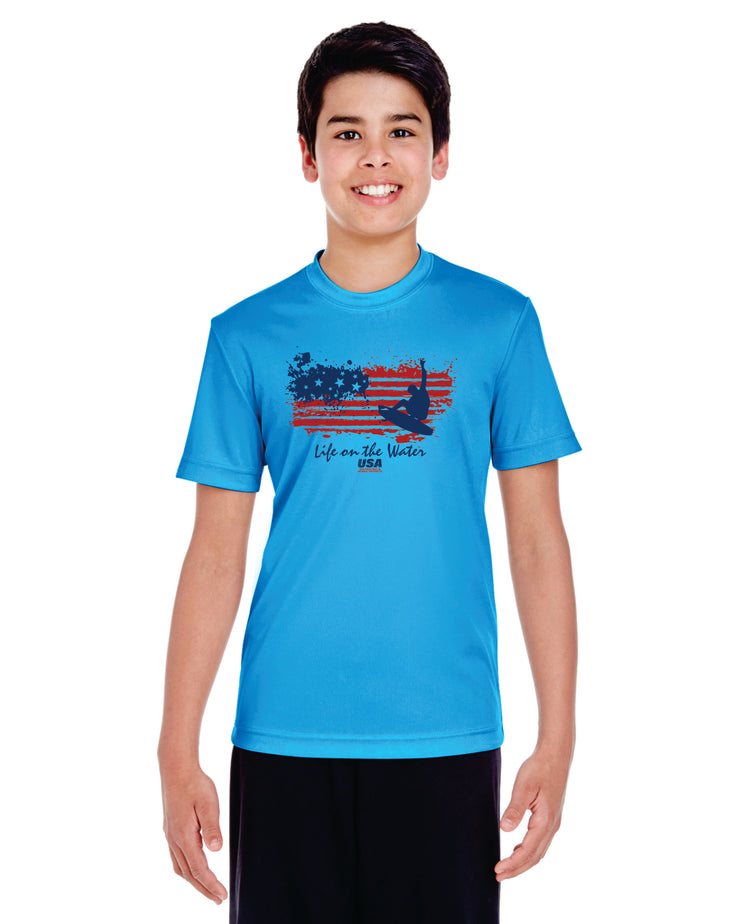 Youth Flag Performance Tee (Choose Your Discipline)