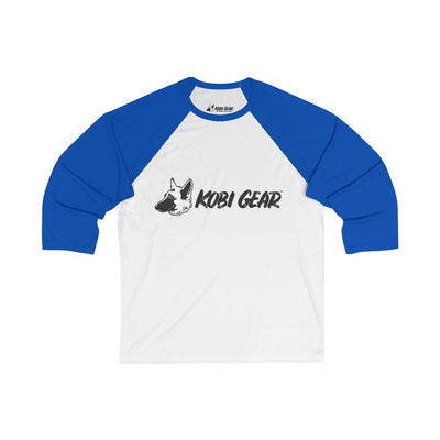 KOBI GEAR™ Unisex 3/4 Sleeve Baseball Tee Long-sleeve Printify White/True Royal S