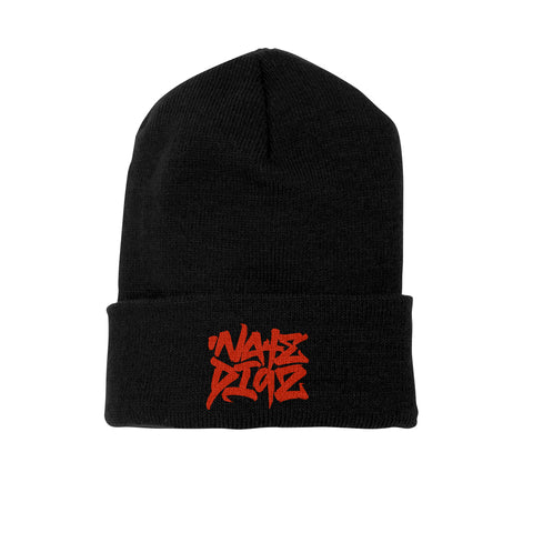 Nate Diaz Street Style 263 PVC Silicone Patch Cuff & Short Beanie [BLACK] OFFICIAL UFC 263 EDITION
