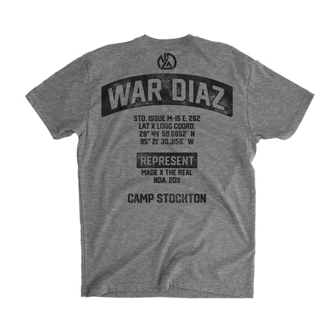 Represent LTD. WAR DIAZ Camp Stockton Training Gear Tee [HEATHER GRAY] NATE DIAZ UFC 262 CAMP EDITION