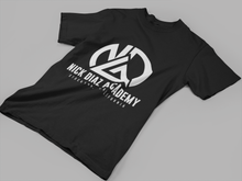 Load image into Gallery viewer, black athletic tshirt nick diaz academy sports wear
