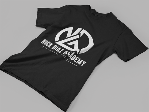 black athletic tshirt nick diaz academy sports wear