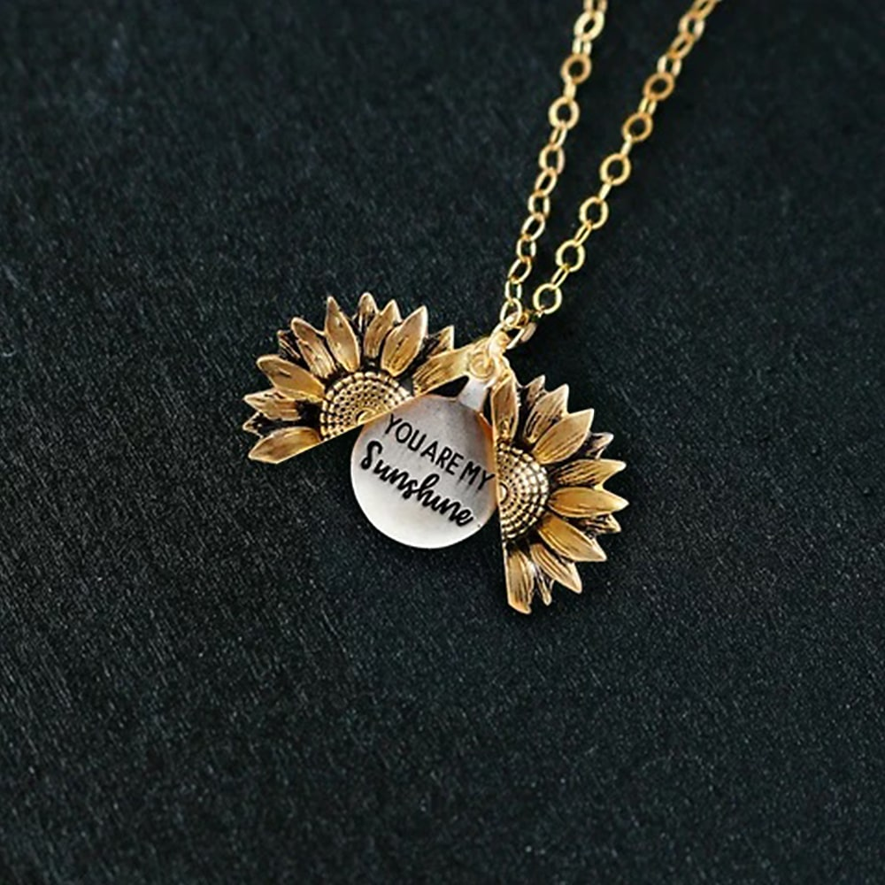 """YOU ARE MY SUNSHINE"" Necklace (with FREE Gift Box)"
