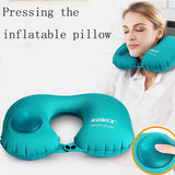 Inflatable in-flight pillow