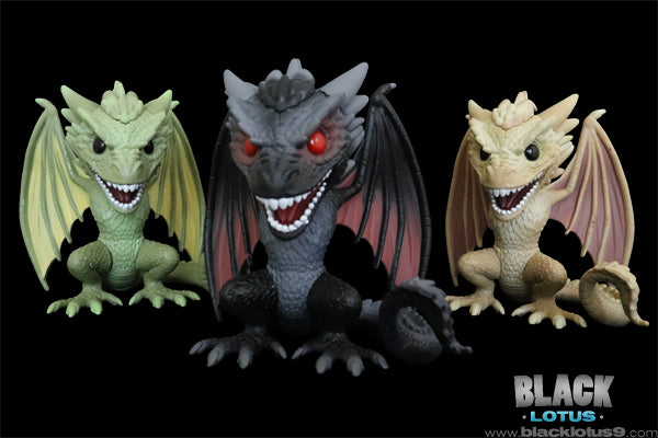Viserion, Drogon, and Rhaegal Funko Pop! Set #ForTheThrone