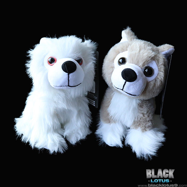 HBO - Game of Thrones - Direwolf Cub Plush - Ghost and Nymeria (6-Inch)