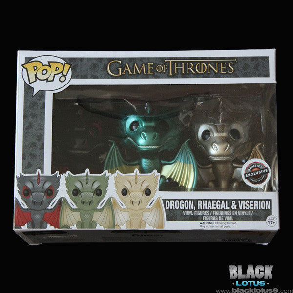 Drogon Rhaegal And Viserion Game Of Thrones Funko Pop