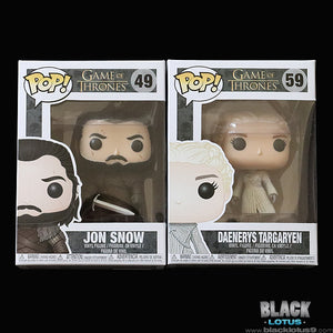 Funko Pop! - HBO - Game of Thrones - Jon Snow and Daenerys Targaryen (White Coat)