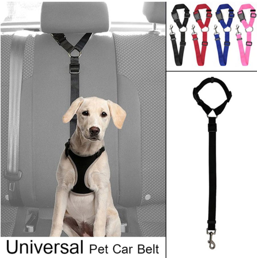 Adjustable Pet Seatbelt (Headrest Mount)
