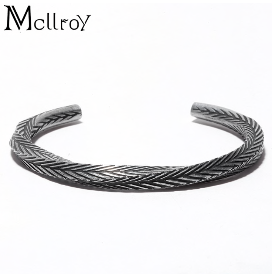 Mcllroy Hand Carved & Twisted Bangle