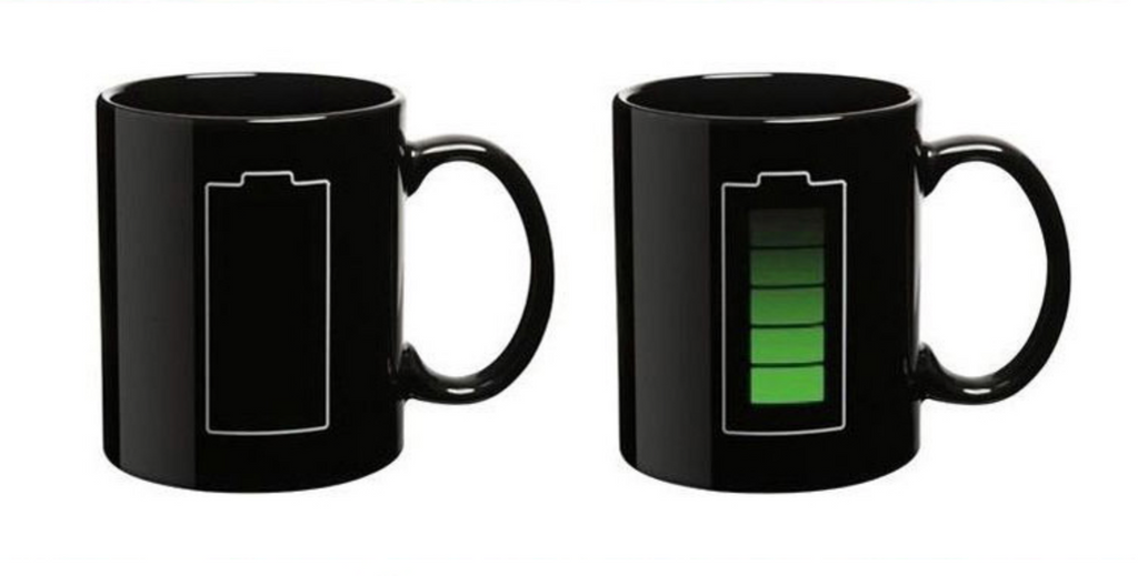 Heat Activated Battery Coffee Cup