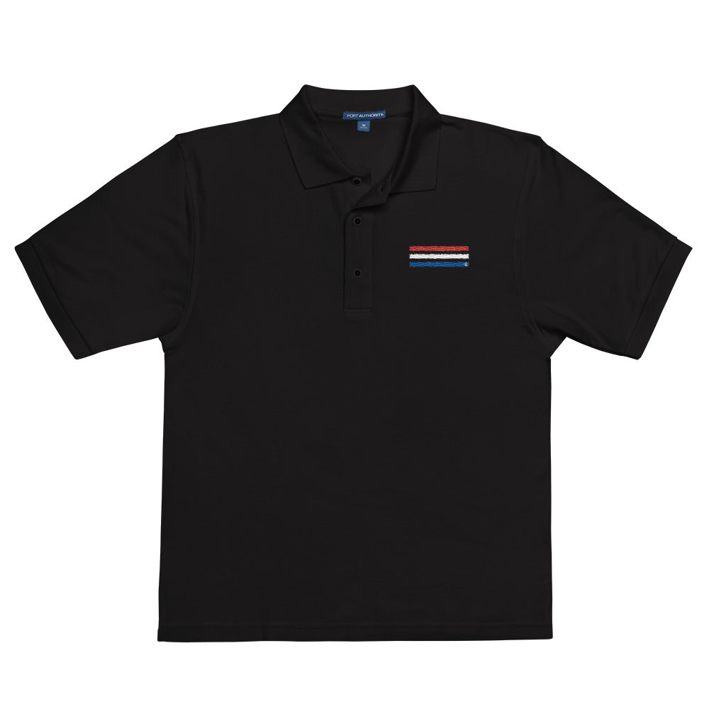 Red White & Blue Performance Polo