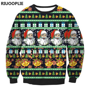 RIUOOPLIE Mens Womens Christmas Sweater President Trump Crew Neck Knitted Pullover Top