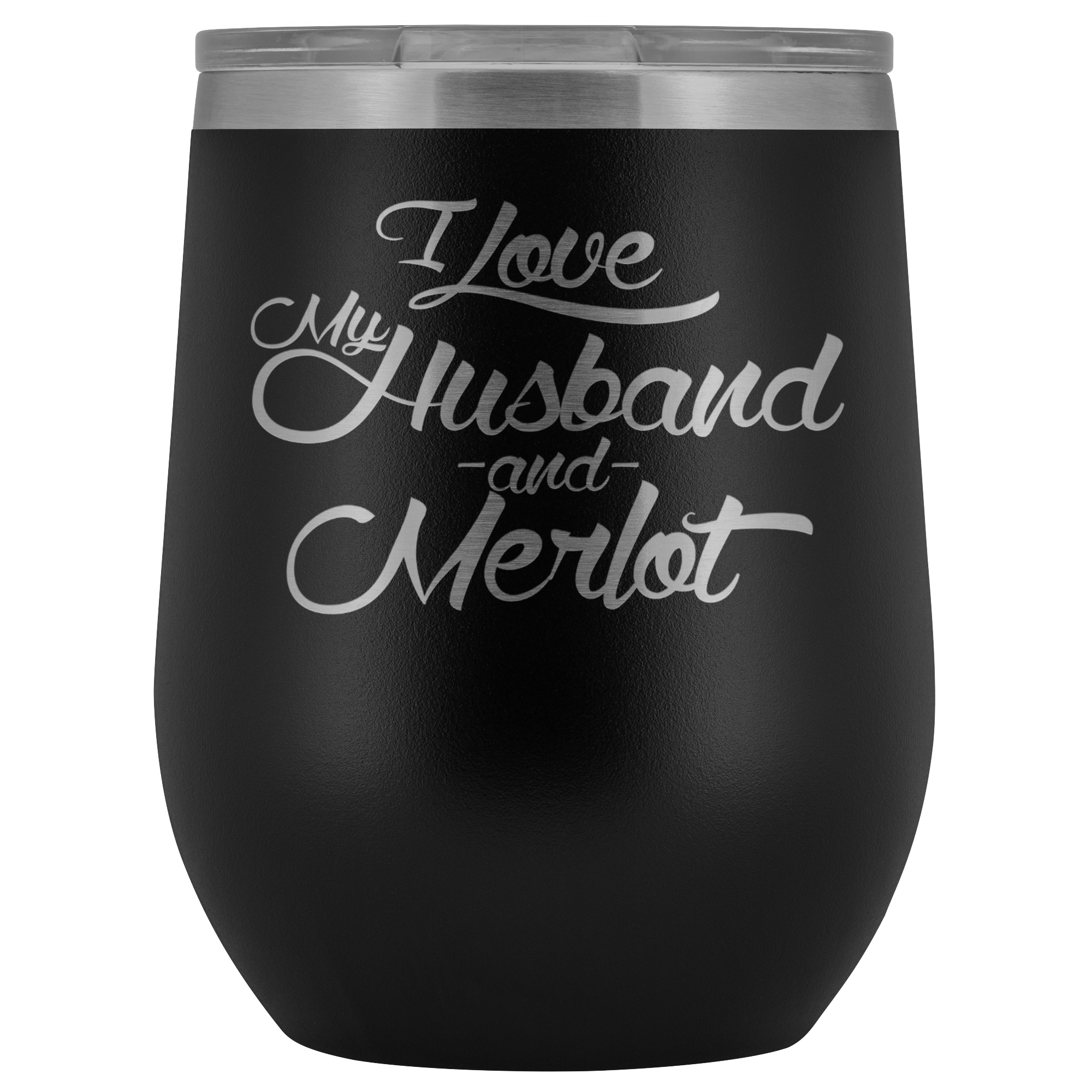 Love My Merlot Wine Glass