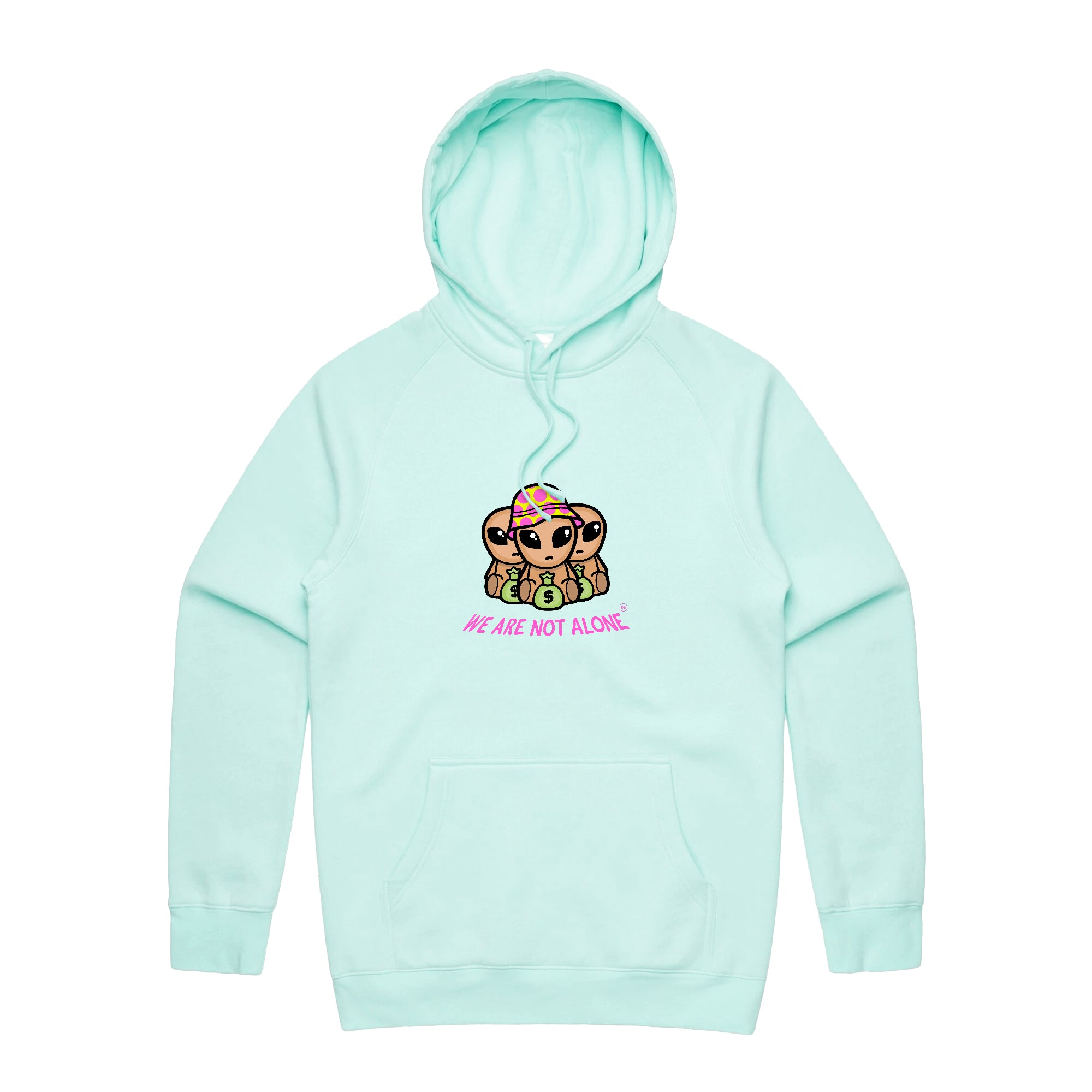 Not Alone Hoodie (Mint)