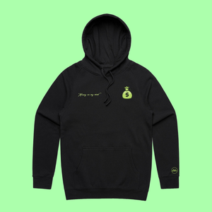 """Money on My Mind"" Hoodie Black"
