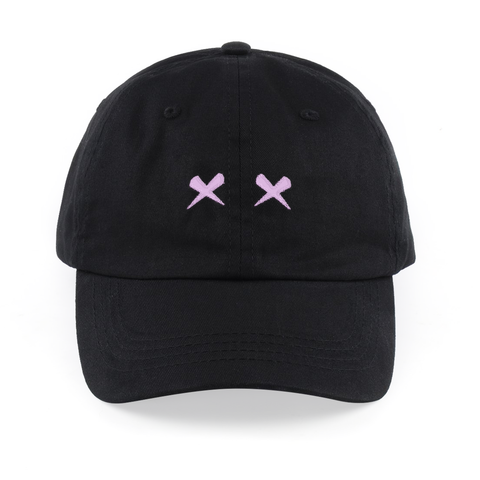 "RNL ""Pink Richie Eyes"" Dad Hat Black"