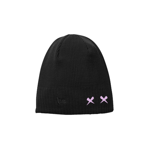 "RNL ""Pink Richie Eyes"" Beanie Black"