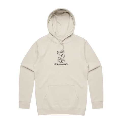 RNL Richie Outline Hoodie Creme