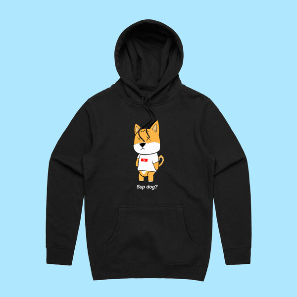 "RNL Winter ""Sup Dog?"" Black Hoodie"