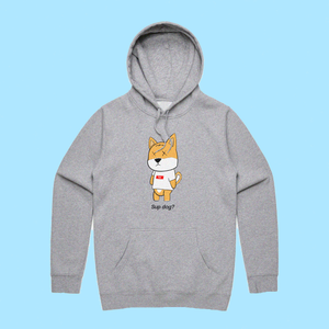 "RNL Winter ""Sup Dog?"" Athletic Heather Hoodie"