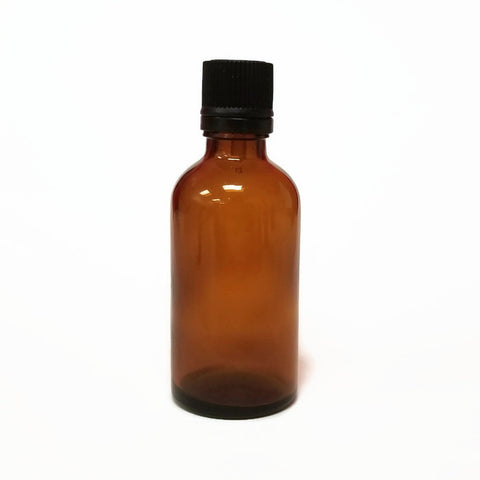 50ml Amber Glass Bottle & Cap