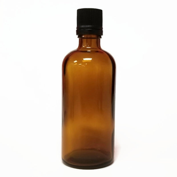 100ml Amber Glass Bottle & Cap