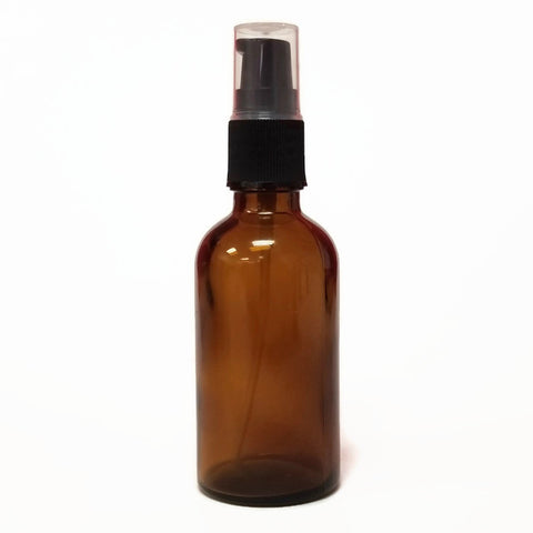 Glass Bottle 50ml Amber with Pump