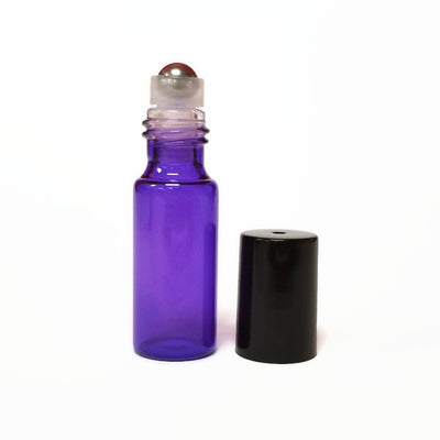 Roll On Bottle - Metal Roller 5ml PURPLE