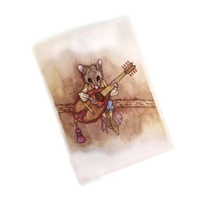Leah Schell Blank Notecard - Mandolin Mouse