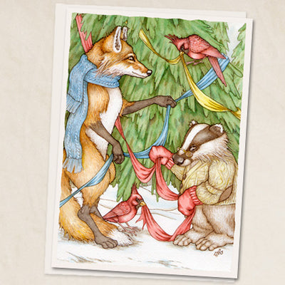 Leah Schell Blank Card Yuletide Gathering