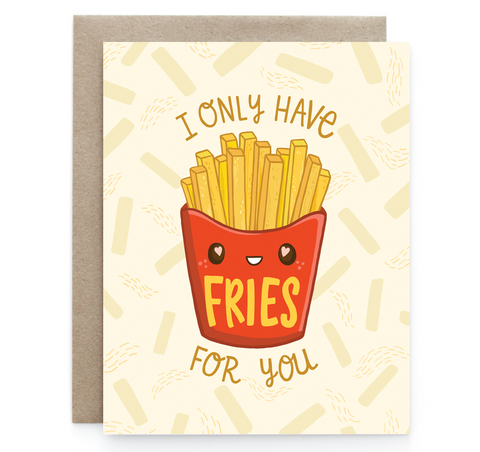 Fries for You - Blank Notecard